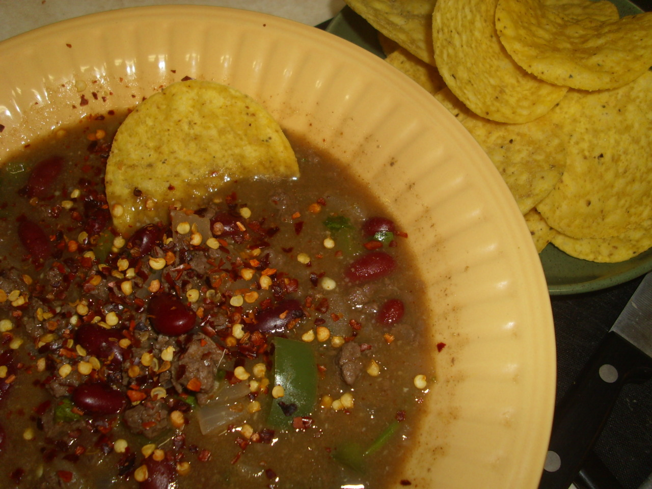 Beef and Bean ChileVerde
